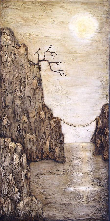 Cliff Painting - Balancing Act by Linda Carmel