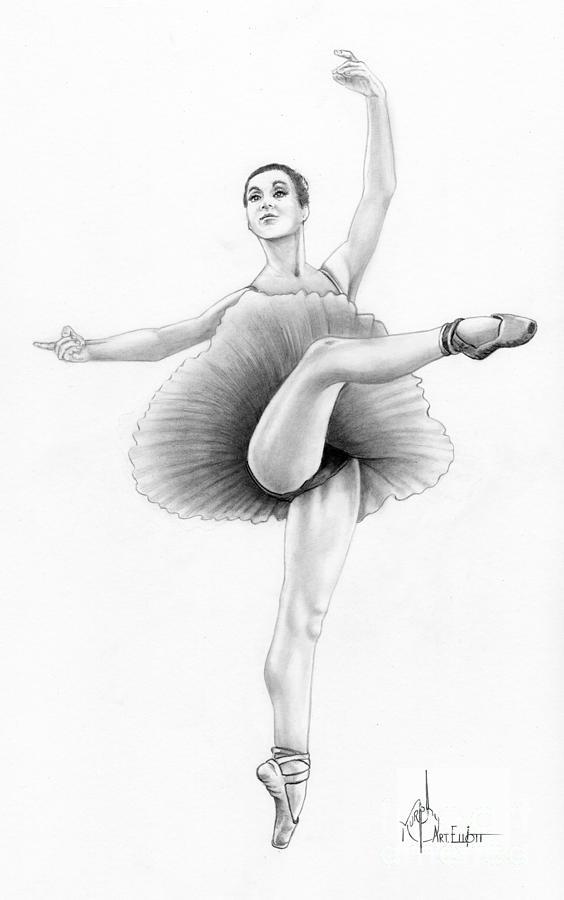 Ballet Dancer Drawing By Murphy Elliott