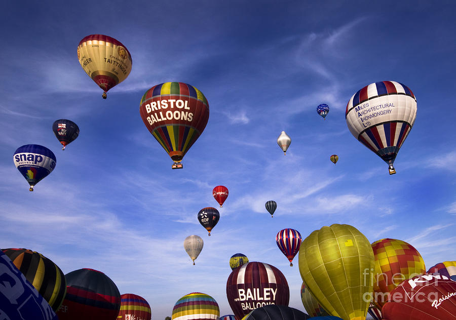 Balloon Fiesta Photograph - Balloon Fiesta by Angel Ciesniarska
