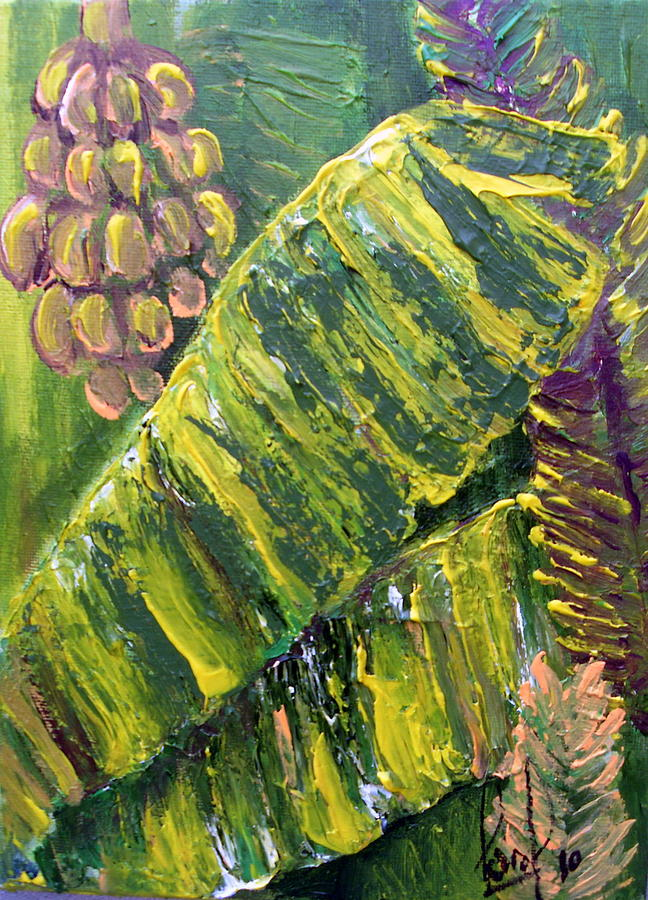 Tropical Painting - Banana Leaves by Carol P Kingsley