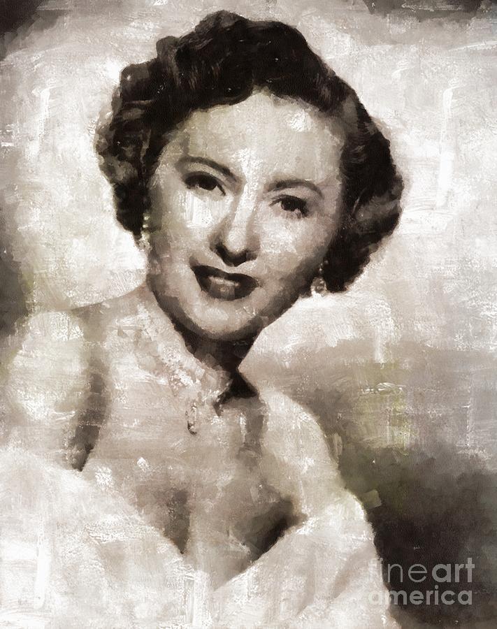 Barbara Stanwyck Hollywood Actress Painting