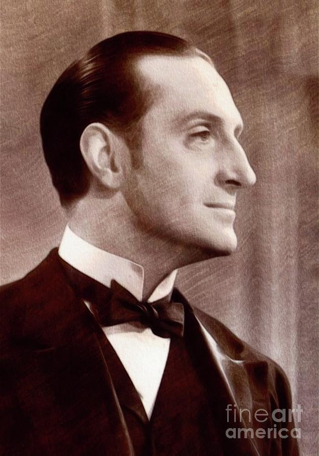 Basil Painting - Basil Rathbone, Actor by John Springfield