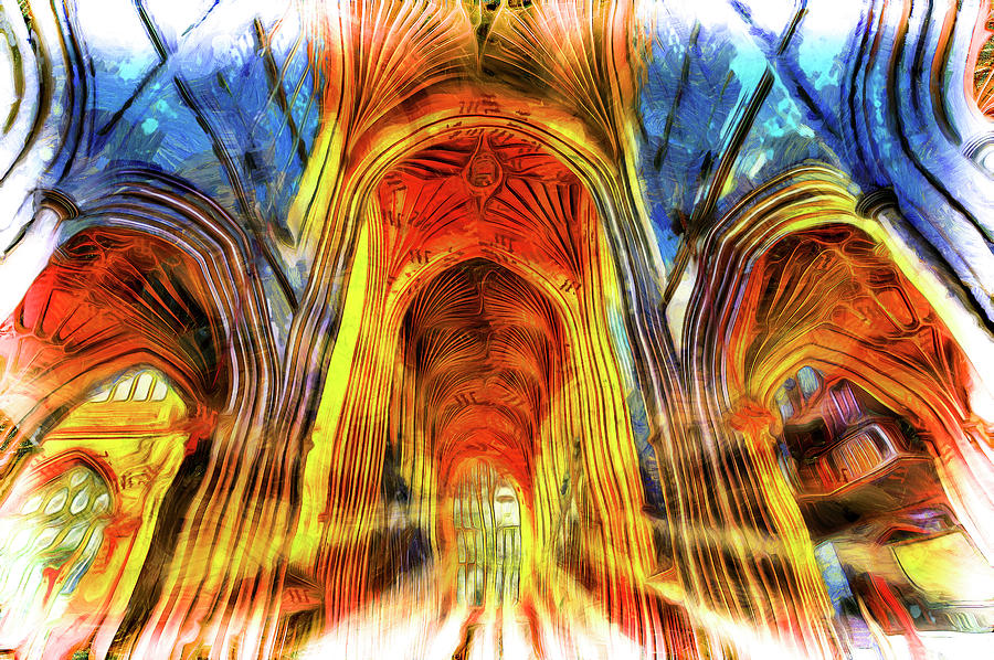 Vincent Van Gogh Photograph - Bath Abbey Sun Rays Art by David Pyatt
