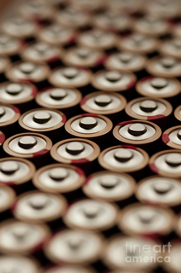 Batteries In Rows Abstract Photograph