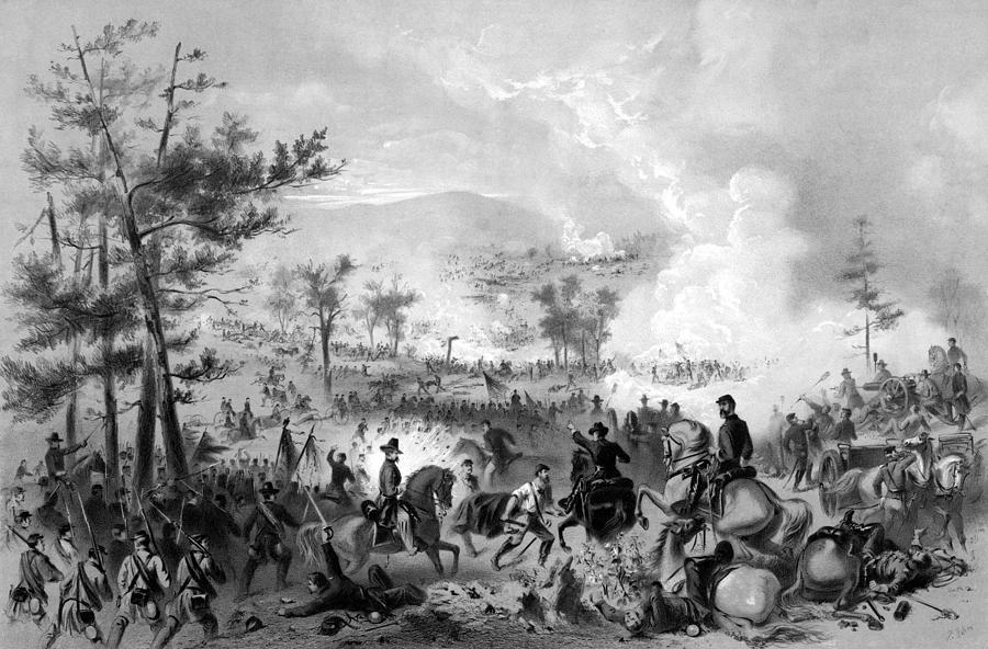 Gettysburg Drawing - Battle Of Gettysburg by War Is Hell Store