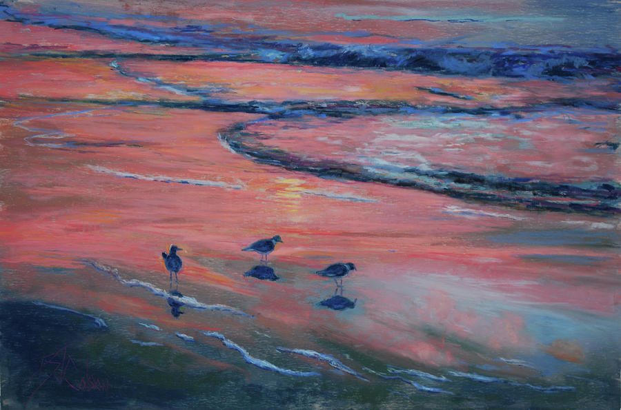 Sandpipers Painting - Beach Combers by Billie Colson