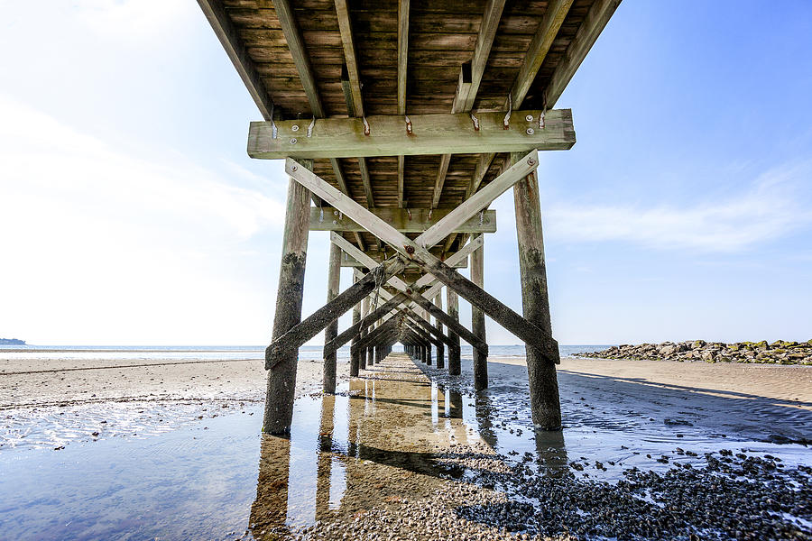 Beach Photograph - Beach Pier by Lorrie Joaus