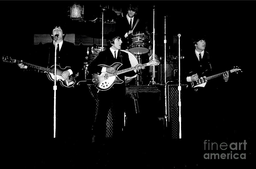 Beatles Photograph - Beatles In Concert 1964 by Larry Mulvehill