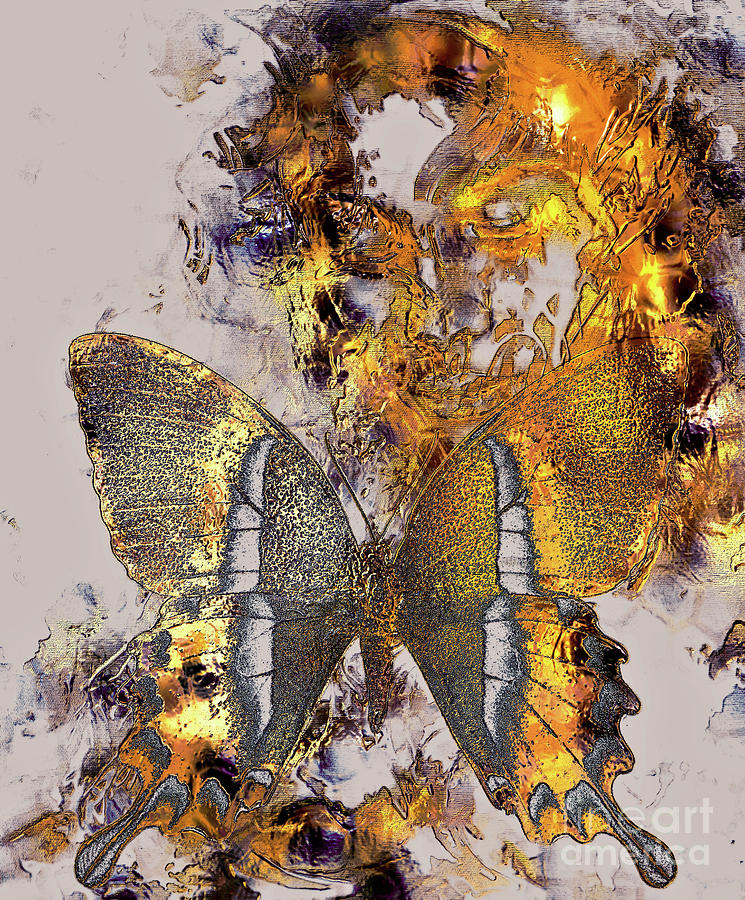 transformation painting beautiful goddness women and color butterfly mixed media abstract color background - Color Butterfly 2