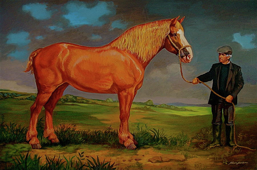 Belgian Draft Horse. Painting by Alan Carlson