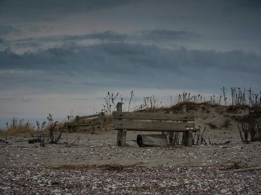 Landscape Photograph - 2 Benches by Renato Ghio
