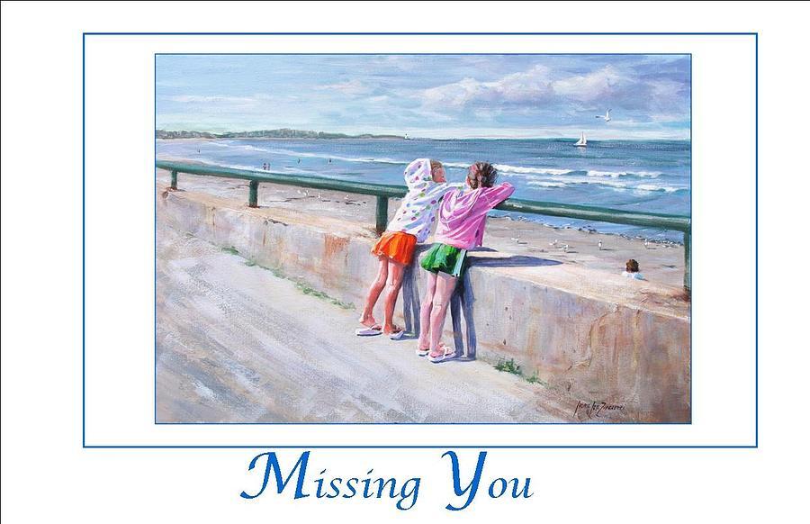 Nantasket Beach Painting - Best Friends by Laura Lee Zanghetti