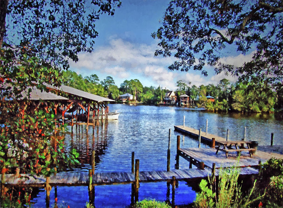 Southern Painting - Big Daddys Harbor by Michael Thomas