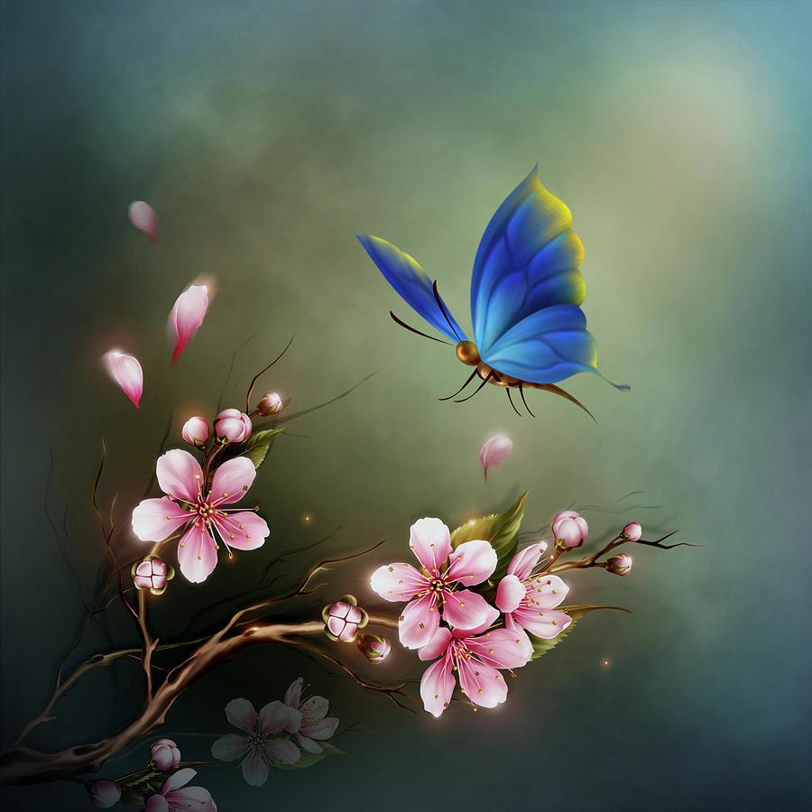 Blue Butterfly by John Junek