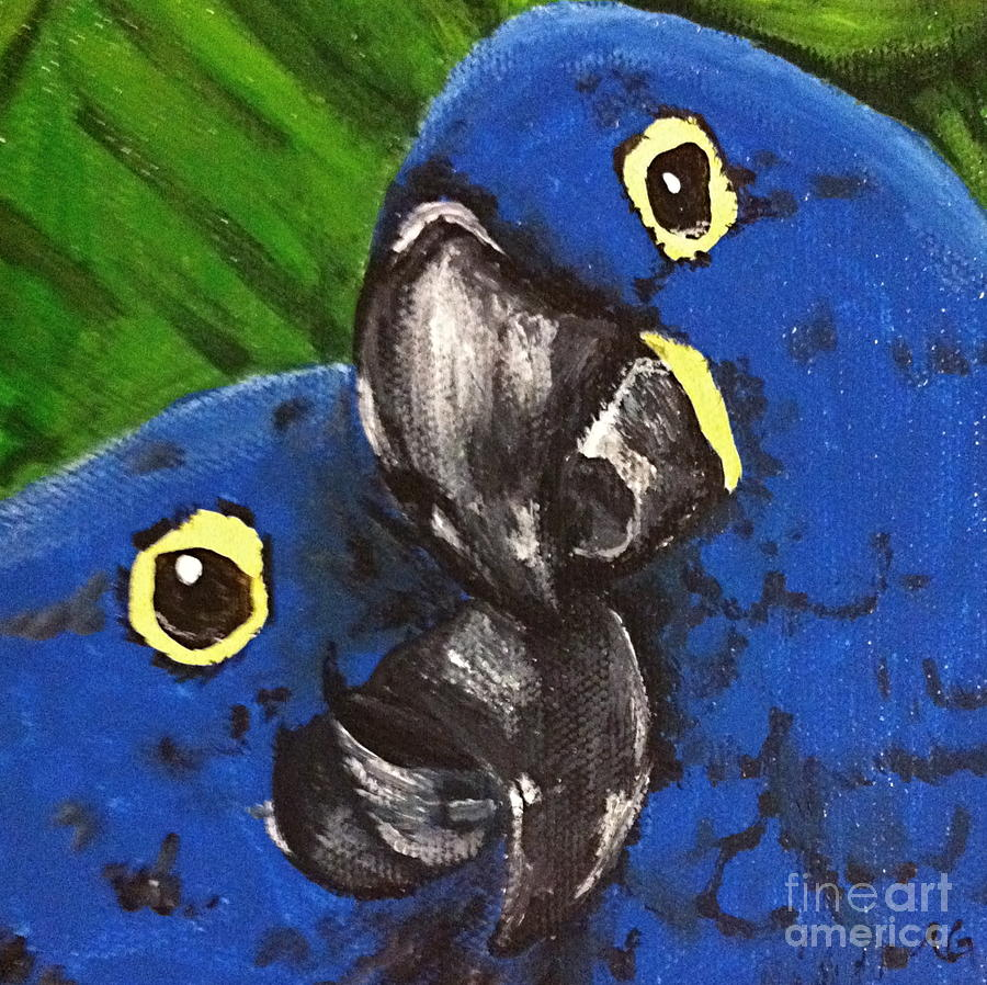 Nature Painting - 2 Blue by Norma Gafford