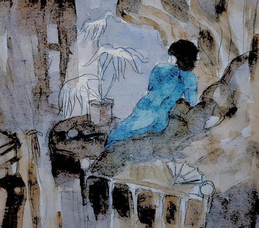 Nude Painting - Blue Nude by Hae Kim