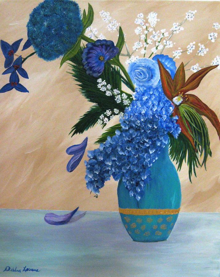 Flowers Painting - Blue Passion by Debbie Levene