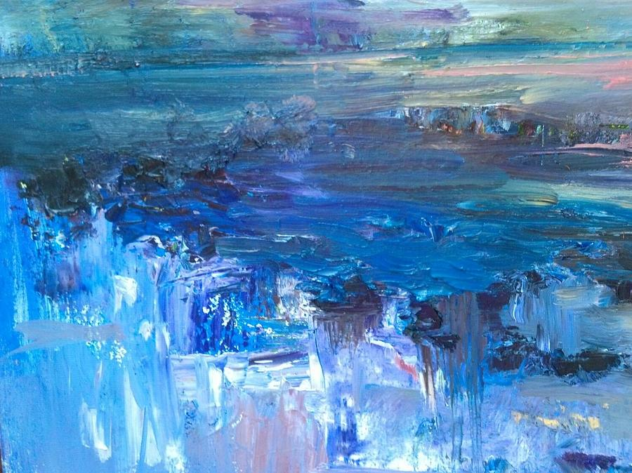 Abstract Painting - Blue Water II by Beverly Smith