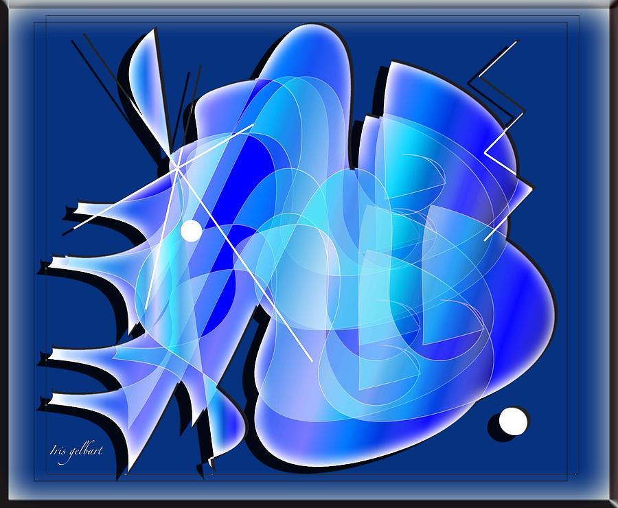 Abstract Digital Art - Blueprint by Iris Gelbart