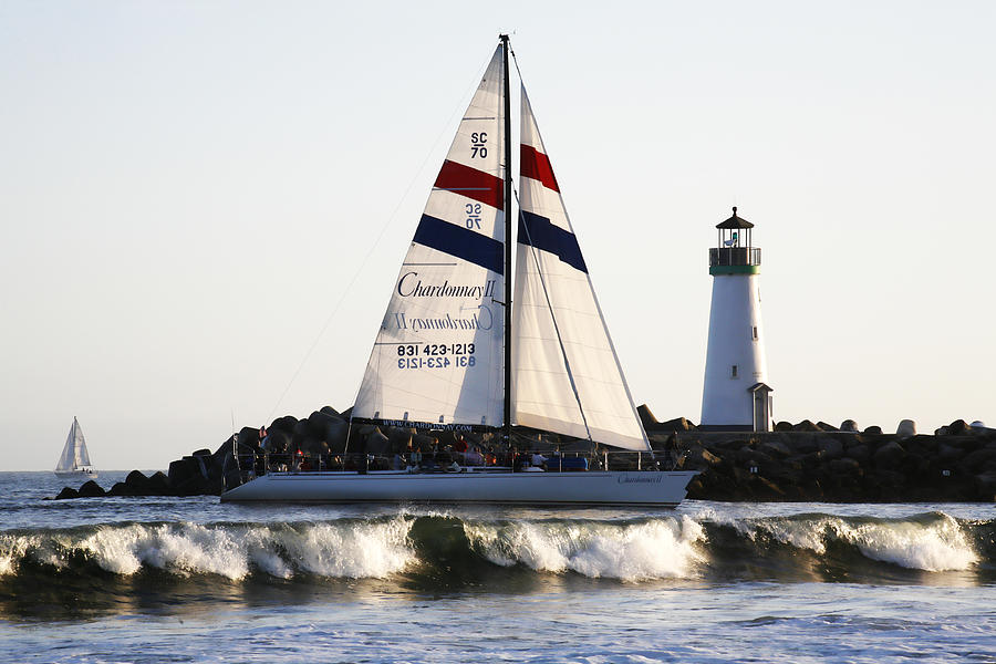 Santa Cruz Photograph - 2 Boats Approach by Marilyn Hunt