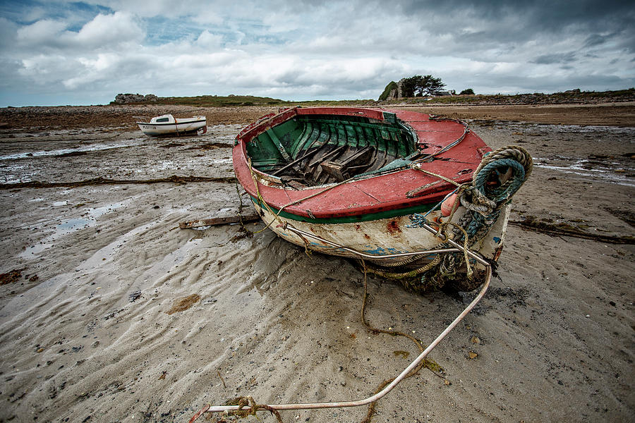 Boat Photograph - Boats by the Sea by Nailia Schwarz