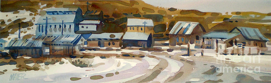 Ghost Town Painting - Bodie California 1979 by Donald Maier