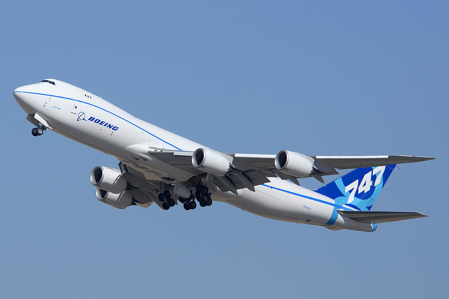 Airplane Photograph - Boeing 747-8 N50217 At Phoenix-mesa Gateway Airport by Brian Lockett