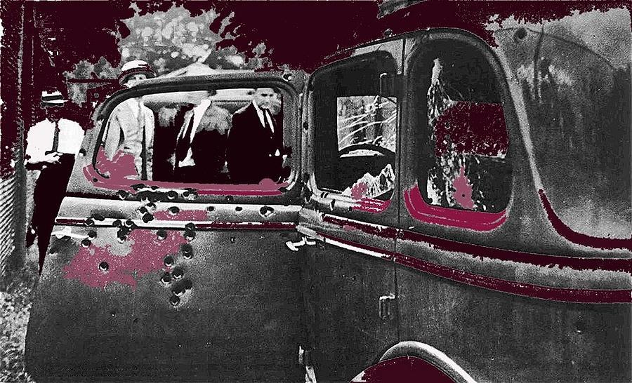Bonnie And Clyde Death Car South Of Gibsland Toward Sailes Louisiana May 23 1933-2013 Photograph by David Lee Guss