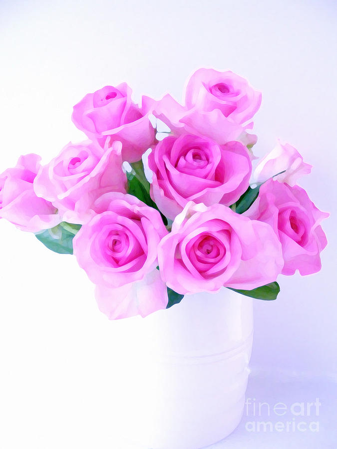 Roses Photograph - Bouquet Of Pink Roses by Nina Ficur Feenan