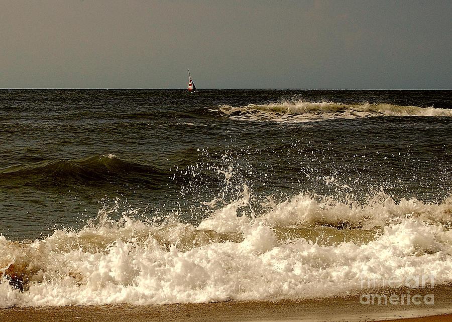 Ocean Photograph - Break Time by Mim White