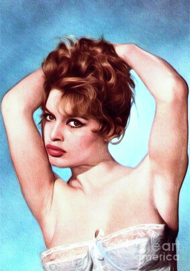 Brigitte Bardot, Actress Painting