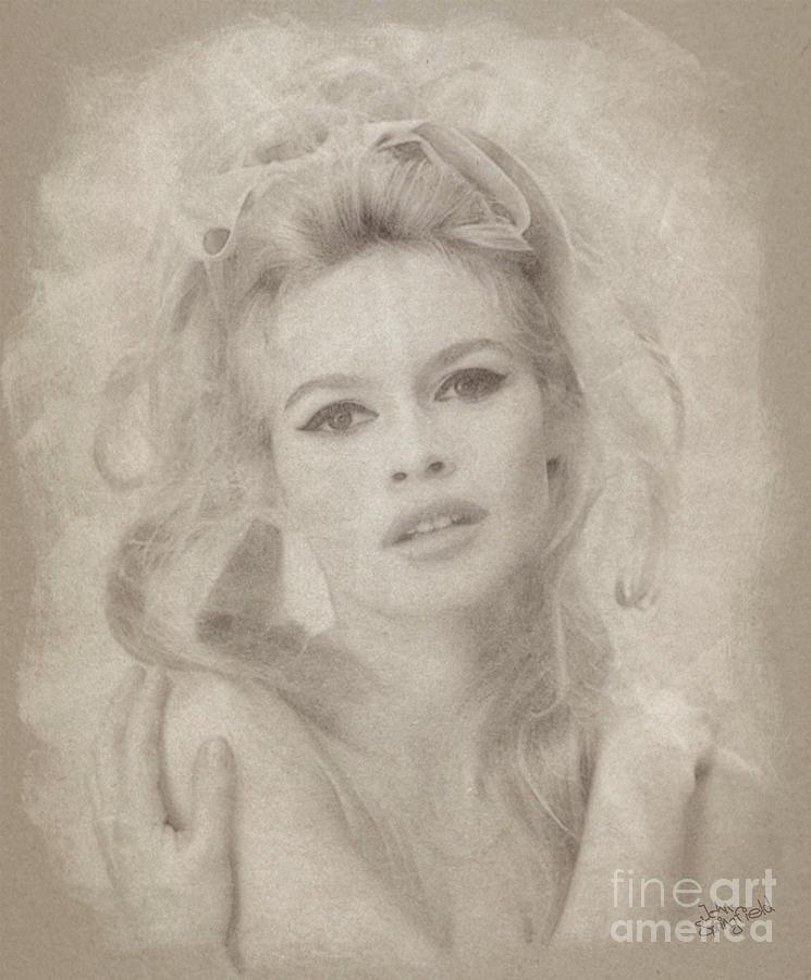 Brigitte Bardot Hollywood Actress Drawing