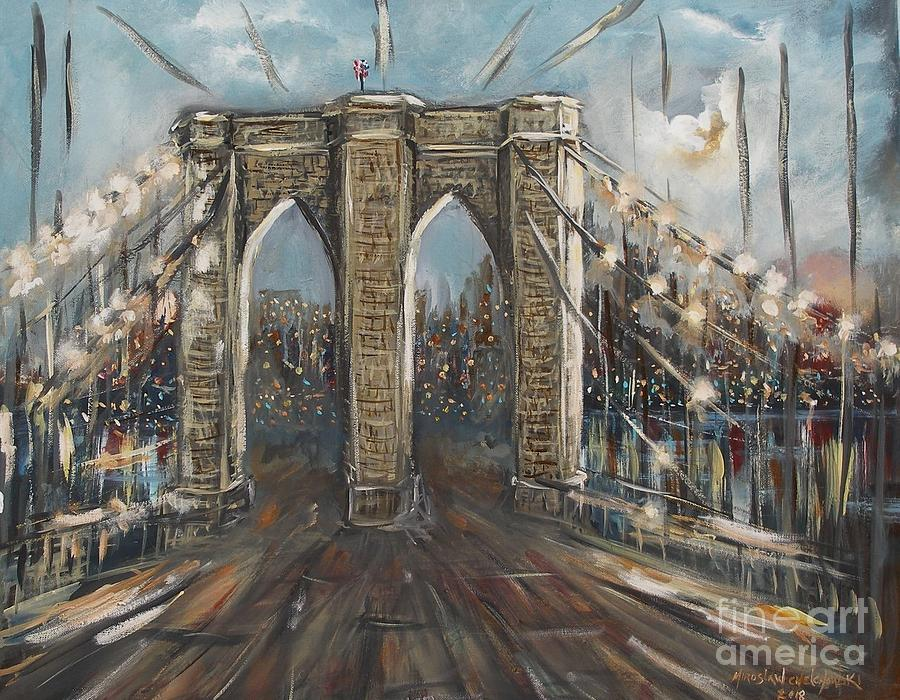 Brooklyn bridge by Miroslaw  Chelchowski