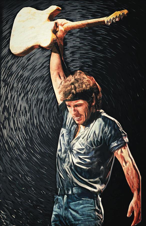 Bruce Springsteen Digital Art - Bruce Springsteen by Zapista OU