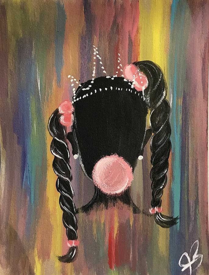 Ponytails Painting - Bubble Princess  by Tera Burton