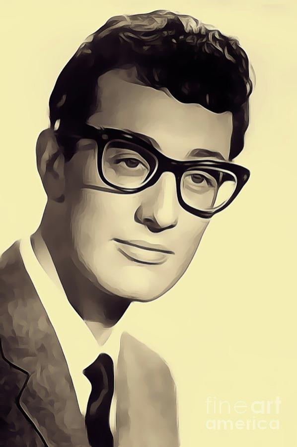Buddy Holly, Music Legend Digital Art