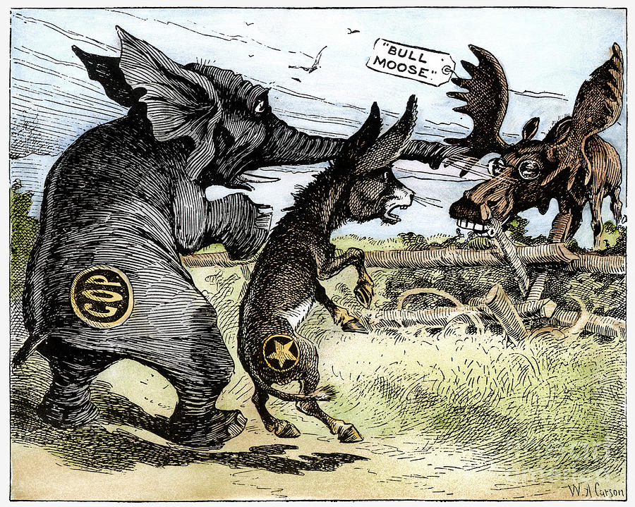 Bull Moose Campaign, 1912 Drawing