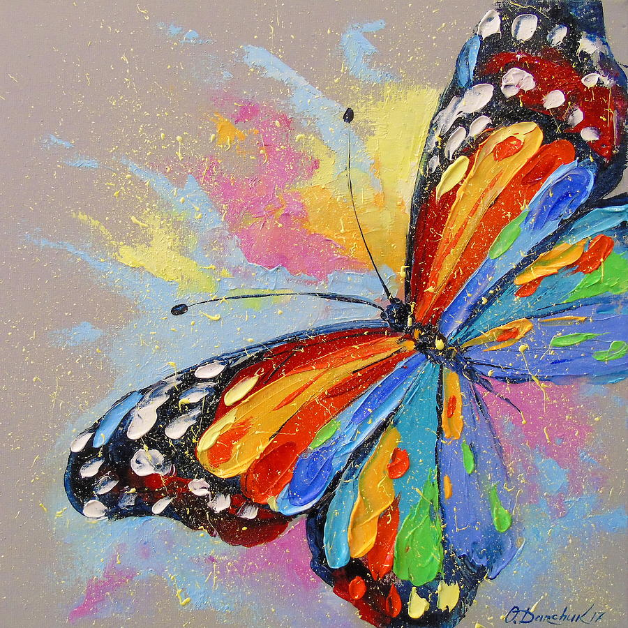 Butterfly Painting by Olha Darchuk