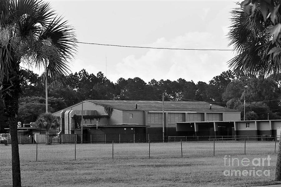 The School House Photograph - 2 Bw Washington High Schhol by Olga Burt