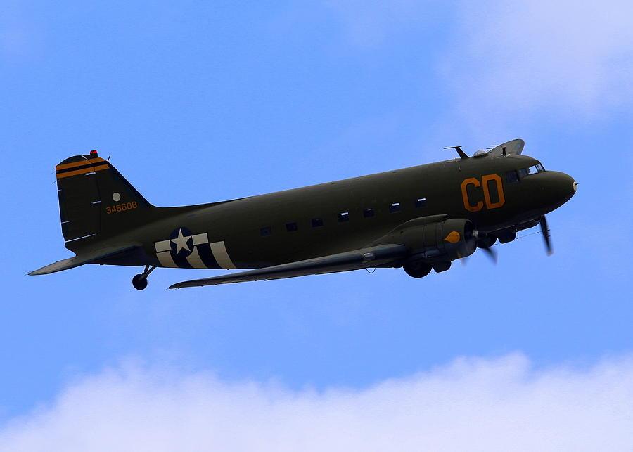 C47 Photograph - C-47 Gooney Bird At Salinas by John King