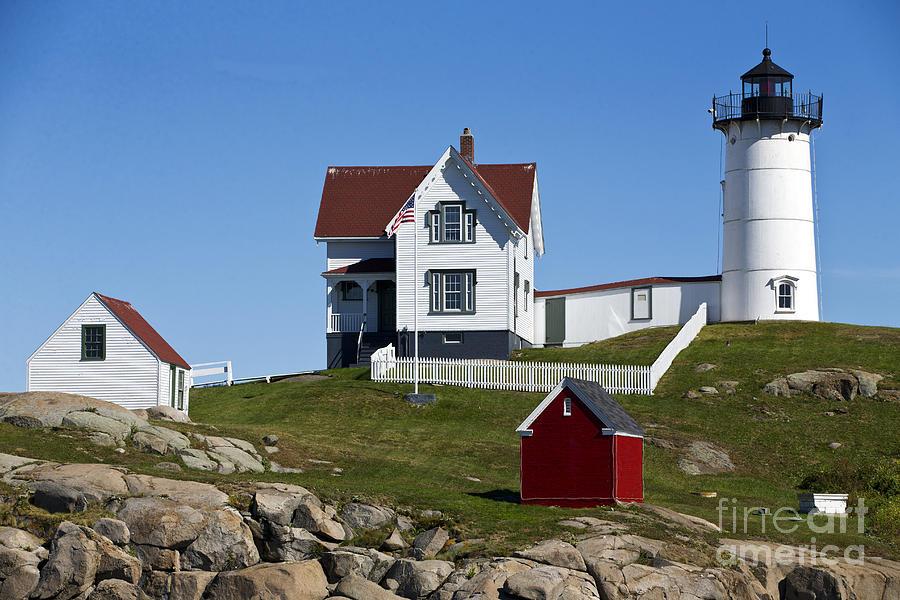 Cape Neddick Lighthouse Nubble Light York Beach Maine Photograph
