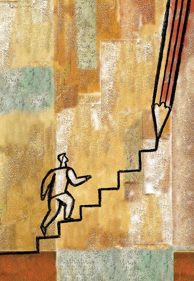 Career Path Painting by Leon Zernitsky
