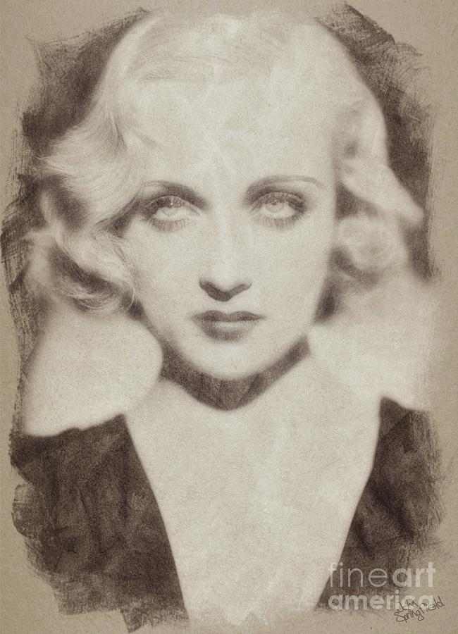 Carole Lombard Hollywood Actress Drawing