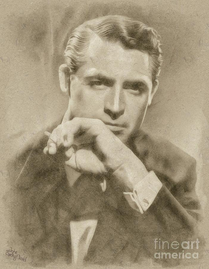 Cary Grant Hollywood Actor Drawing