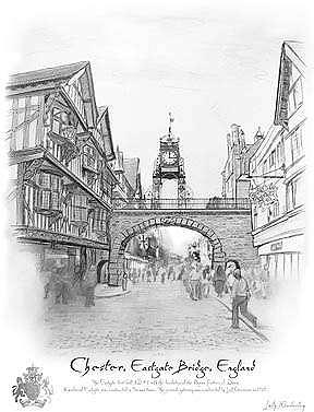 England Painting - Chester East Gate - England by Kimberley Reid