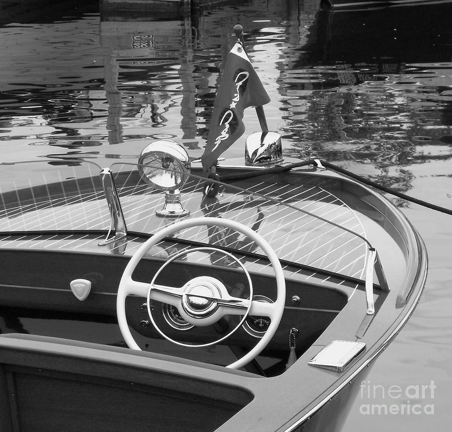 Chris Craft Photograph - 1950s Sportsman by Neil Zimmerman