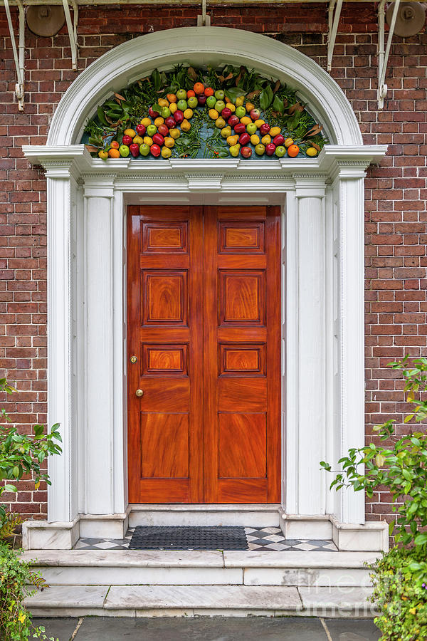 Christmas Door Photograph