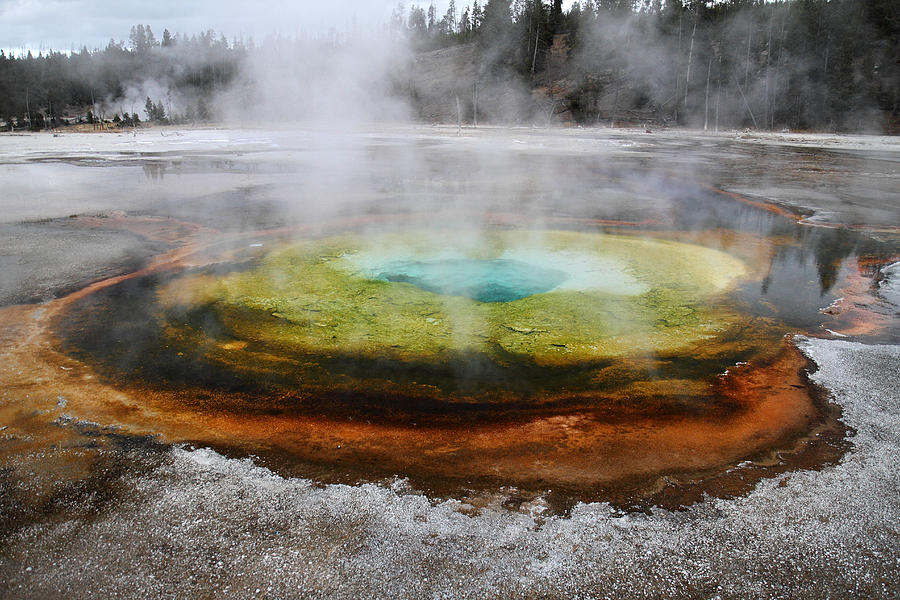 Hot Photograph - Chromatic Pool Yellowstone by Pierre Leclerc Photography