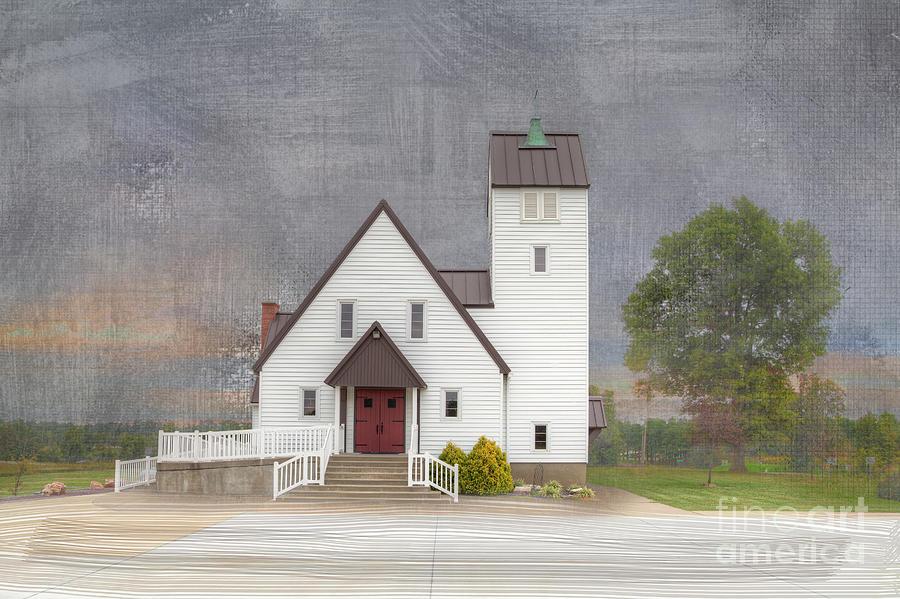 2015 Photograph - Church At Dusk by Larry Braun