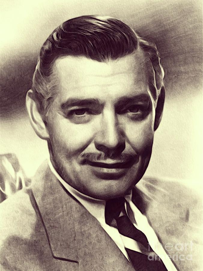Clark Gable, Actor Drawing